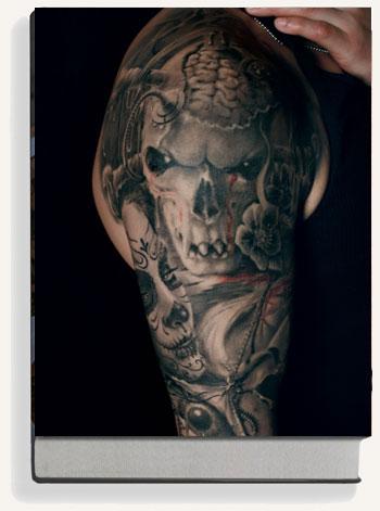 And grey book black tattoo